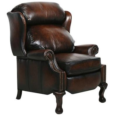 Danbury Recliner in Leather - Stetson Coffee