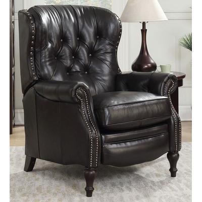 Kendall Recliner in Leather - Shoreham Fudge