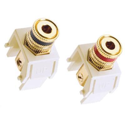 Adorne Speaker Binding Posts - White