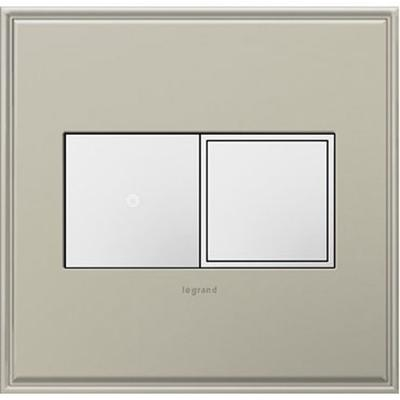 Adorne 2-Gang Pop-Out Outlet - White