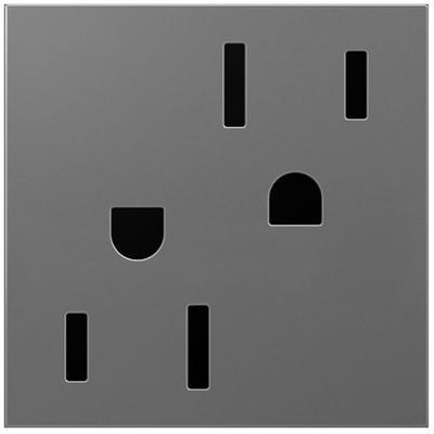 Adorne 15A Tamper-Resistant Outlet - Magnesium
