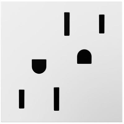 Adorne 15A Tamper-Resistant Outlet - White