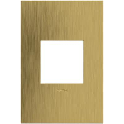 Adorne 1-Gang Wall Plate - Brushed Satin Brass