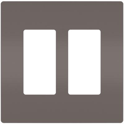Radiant 2-Gang Screwless Wall Plate, Plastic