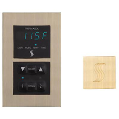 Signature Series Modern Recessed Control and Square Steam Head Kit