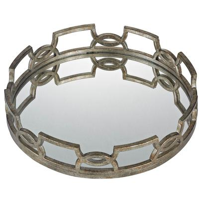 Iron Scroll Mirror Tray