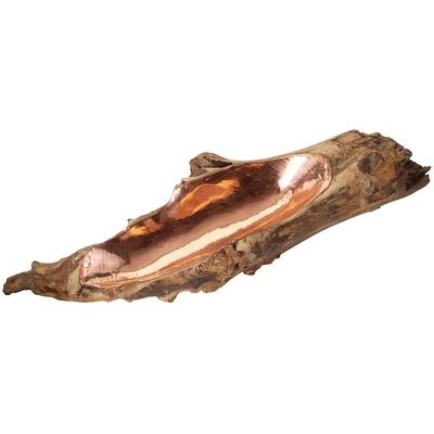 Teak Root Bowl with Copper Insert