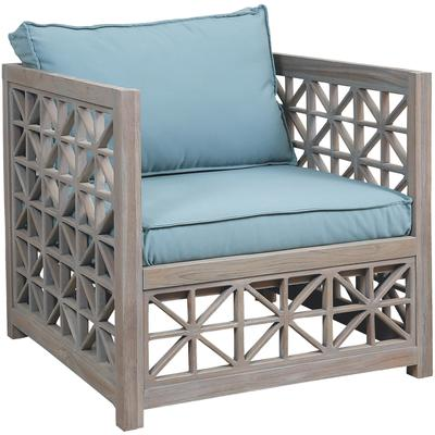 Set of Two Vincent Lattice Outdoor Chair Cushions