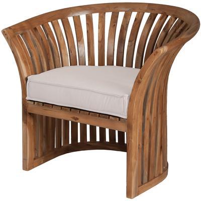Teak Barrel Chair Cushion - Cream
