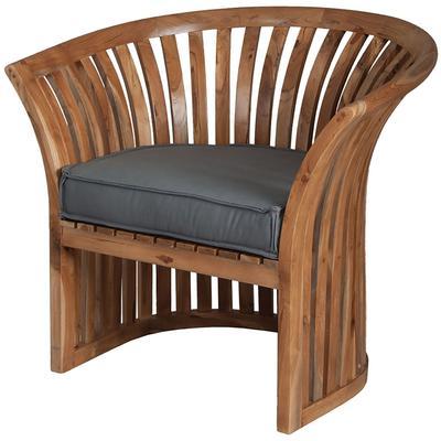 Teak Barrel Chair Cushion - Grey
