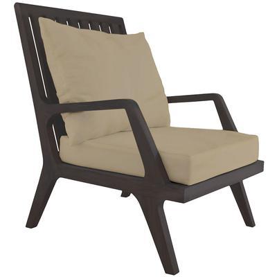 Teak Patio Lounge Chair Cushions - Cream