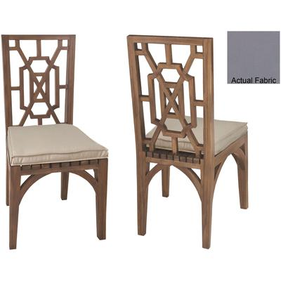 Set of 2 Cushions for Teak Garden Dining Chair - Gray