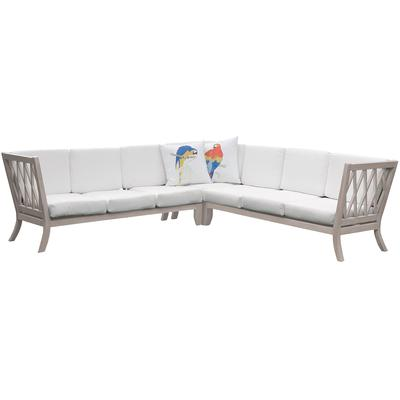 Hilton Outdoor Sectional Cushions - White