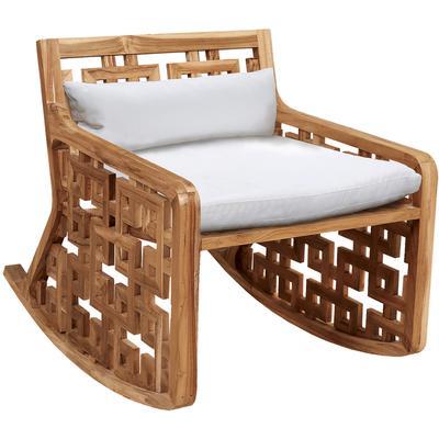 Matt's Outdoor Rocking Chair Cushions - White