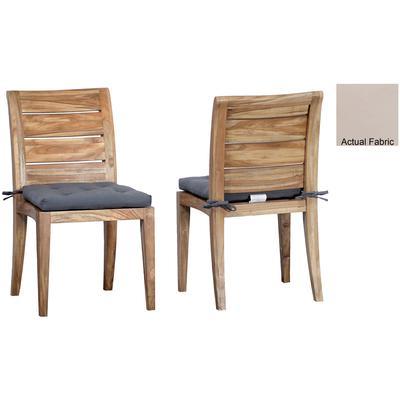 Set of 2 Cushions for Teak Club Side Chair - Cream