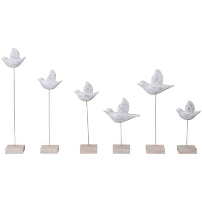 Set of 6 Wooden Birds