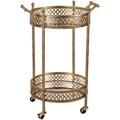 Julep Banded Round Bar Cart