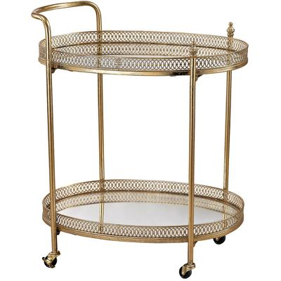 Julep Banded Oval Bar Cart
