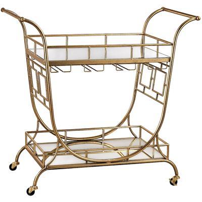 Mirrored Server Bar Cart