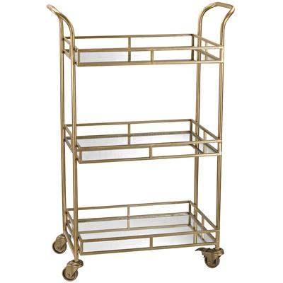 Julep Bar Cart - Gold/Mirrored