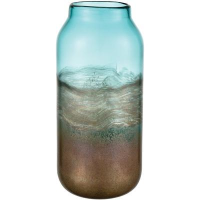 On the Horizon Vase - Aqua Earth/Gold