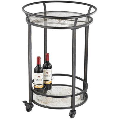 Round Bar Cart - Dark Bronze