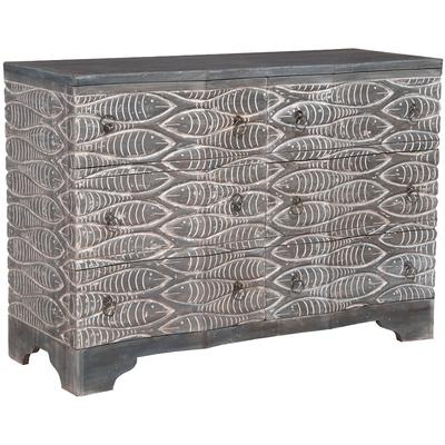 Waterfront Harmony 6-Drawer Chest - Grey