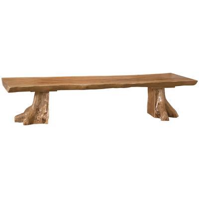 Teak Slab Bench