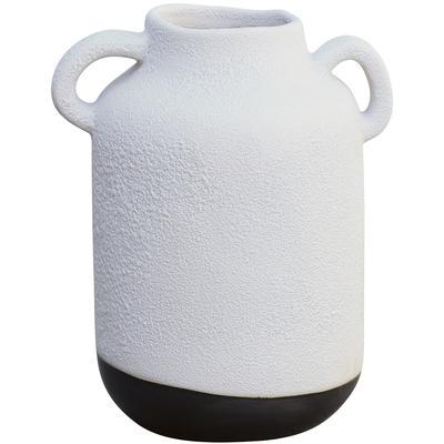 Usagi Vase - White/Matte Metallic Black