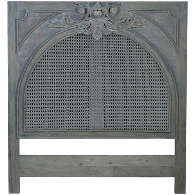 Caned King Headboard - Weathered Grey