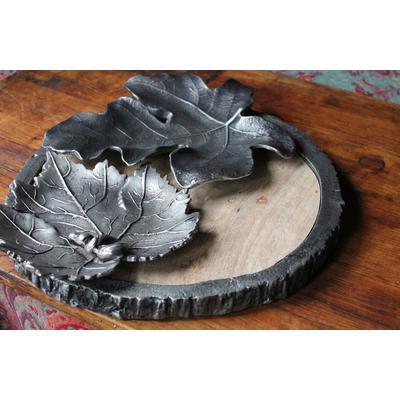 Aluminum Fig Leaf - Antique Silver