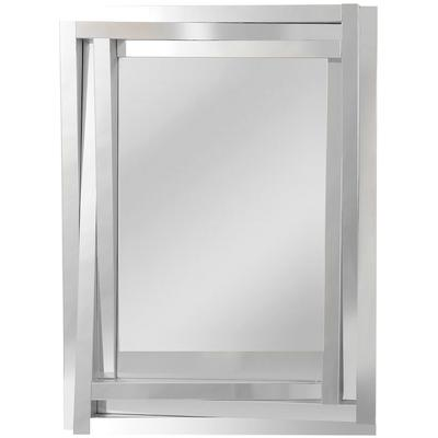 Geometric Three-Wide Sloping Glass Mirror Frame