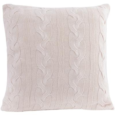 Cable Knit Natural Cotton Cushion/Pillow - White