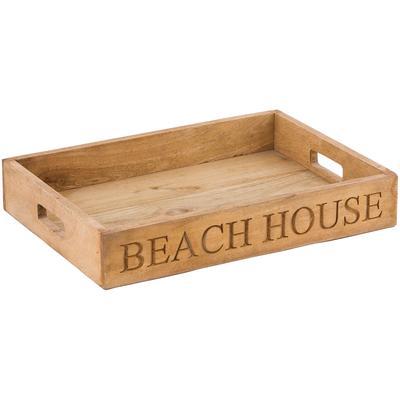 Beach House Chiseled Tray - Natural Mango
