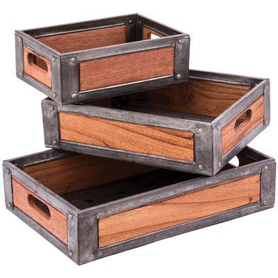 Set of 3 Urban Farmhouse Trays - Distressed