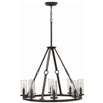 Dakota Single Tier Foyer Chandelier - Oil Rubbed Bronze