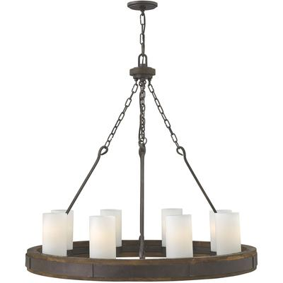 Cabot Eight-Light Chandelier - Rustic Iron