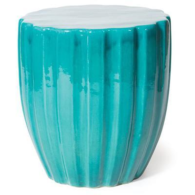 Ceramic Scallop Stool - Aquamarine