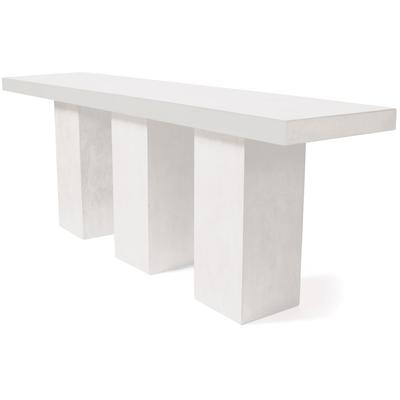 Perpetual Teak Mykonos Bar Table - Ivory White