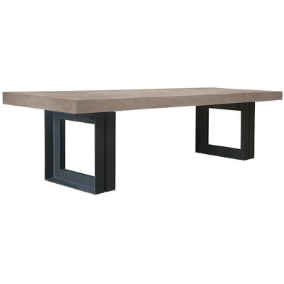 "Perpetual Steel Senza 118"" Table - Slate Gray/Anthracite Steel"
