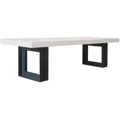 "Perpetual Steel Senza 118"" Table - Ivory White/Anthracite Steel"
