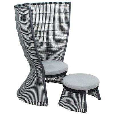 Archipelago Nicobar Chair/Ottoman Set