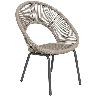 Set of 2 Archipelago Ionian Dining Chair - Dark Gray/Cardamom Taupe