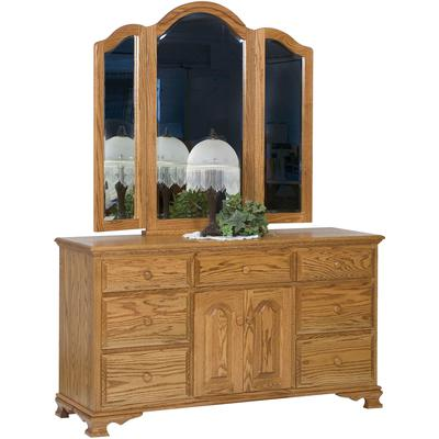 Heritage 7-Drawer 2-Door Dresser with Tri-View Mirror