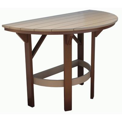 "60"" Half Round Bar Table - Solid Wood Grain"