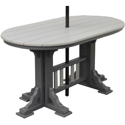 5' Oval Mission Dining Table - Two-Tone Wood Grain