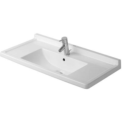 """Starck 3 33-1/1"""" Furniture Washbasin with 1 Faucet Hole"""