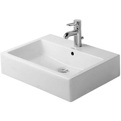 """Vero 19-5/8"""" Above-Counter Basin with WonderGliss and 1 Faucet Hole"""