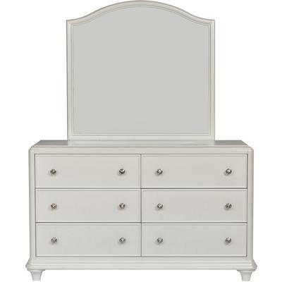 Stardust Six-Drawer Dresser and Mirror