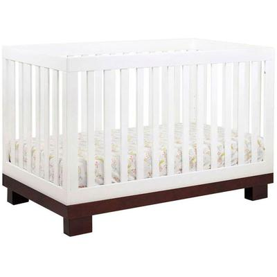 Babyletto Modo 3-in-1 Convertible Crib - Espresso & White